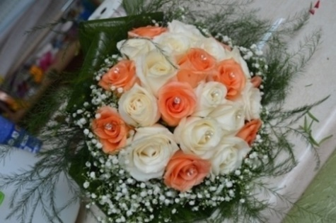 Decorazioni Matrimonio Arancione : Decorazioni matrimoni huayifangi fiori di loto xiuqiu bouquet di