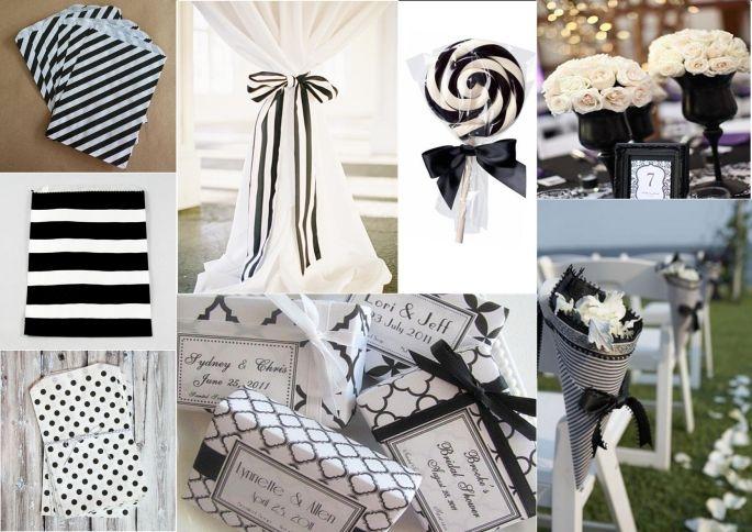 Allestimento Tavolo Bianco E Nero.Matrimonio Decorazioni In Bianco E Nero Matrimonio Ideale