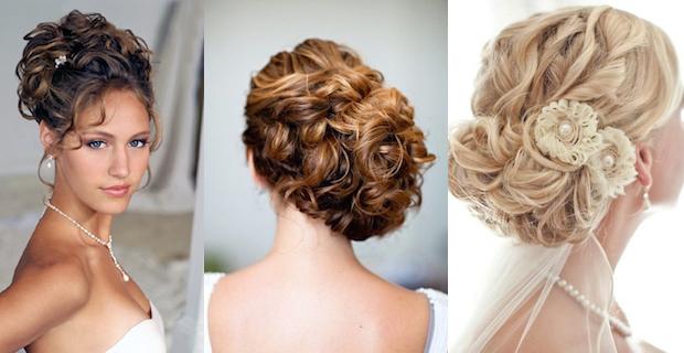 Acconciature capelli ricci da sposa